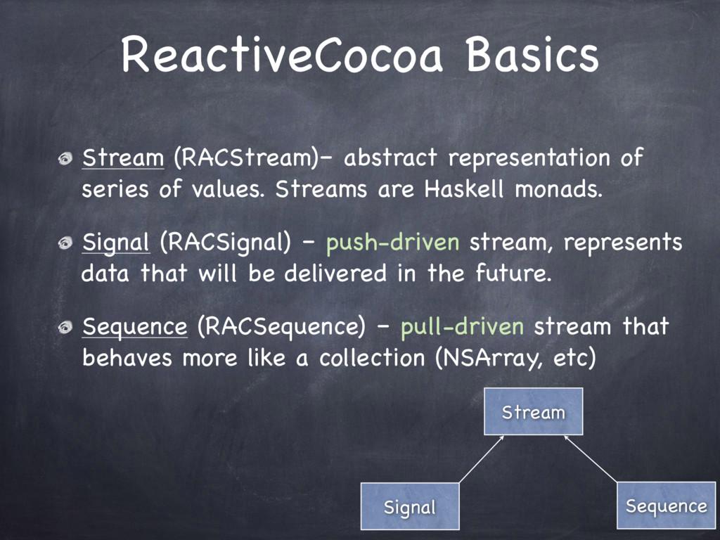 ReactiveCocoa Basics Stream Sequence Signal Str...