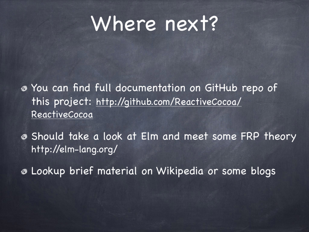 Where next? You can find full documentation on G...