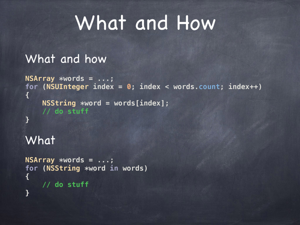 What and How What and how  NSArray *words = ......