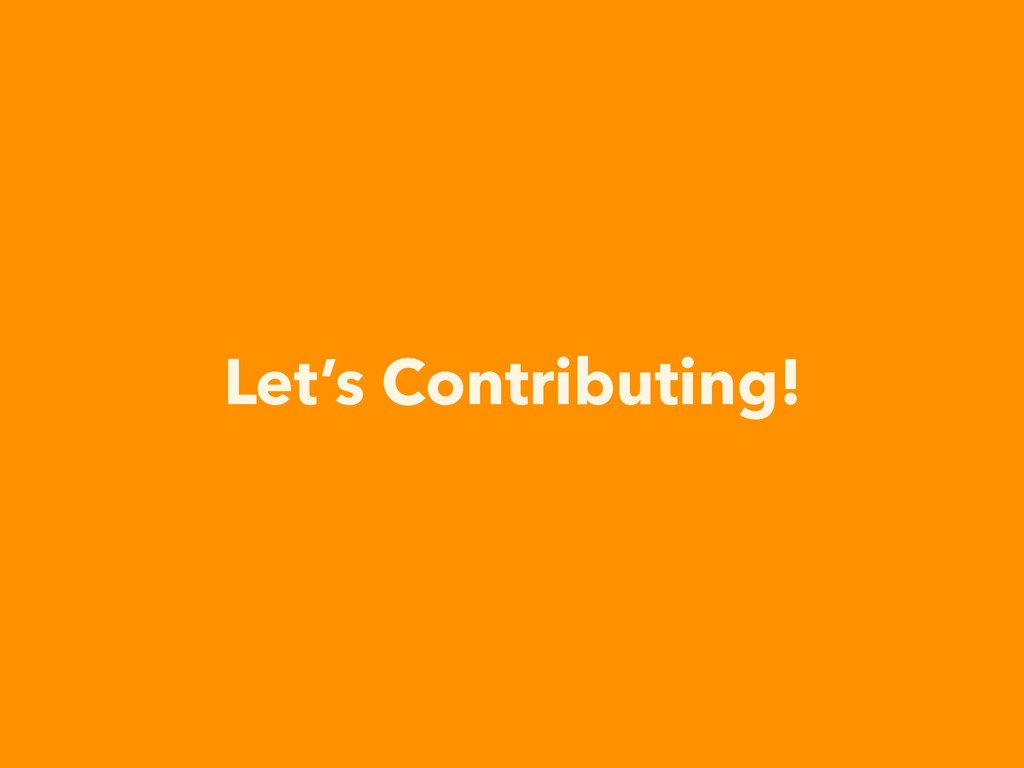 Let's Contributing!