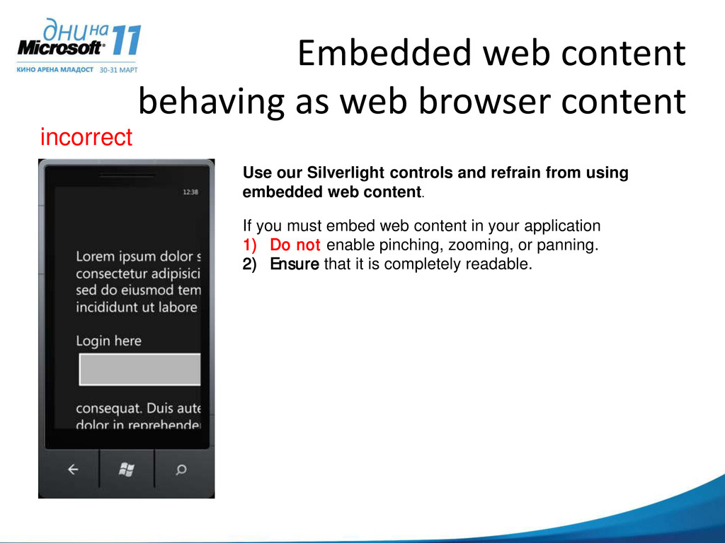 Embedded web content behaving as web browser co...