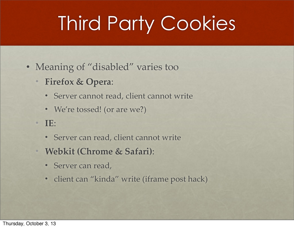 "Third Party Cookies • Meaning  of  ""disabled""  ..."