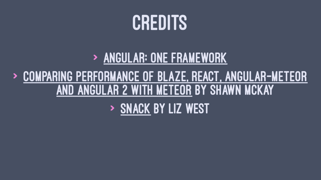 CREDITS > Angular: One framework > Comparing Pe...