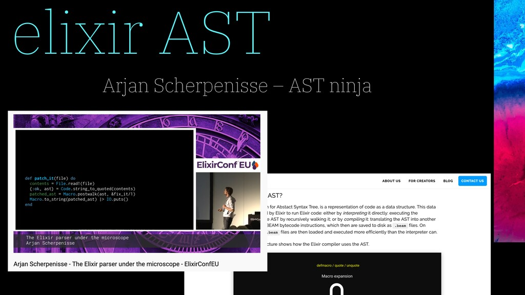 elixir AST Arjan Scherpenisse – AST ninja