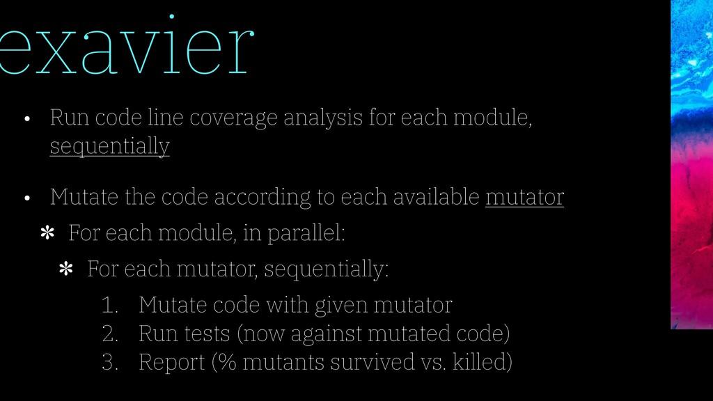 exavier • Run code line coverage analysis for e...