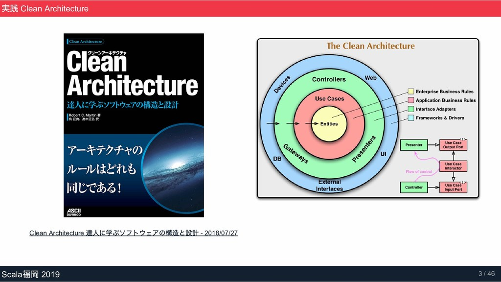 Clean Architecture 達人に学ぶソフトウェアの構造と設計  2018/07/...