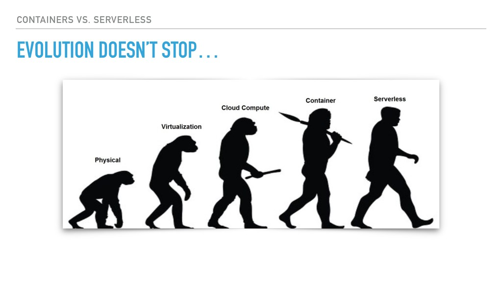 EVOLUTION DOESN'T STOP… CONTAINERS VS. SERVERLE...