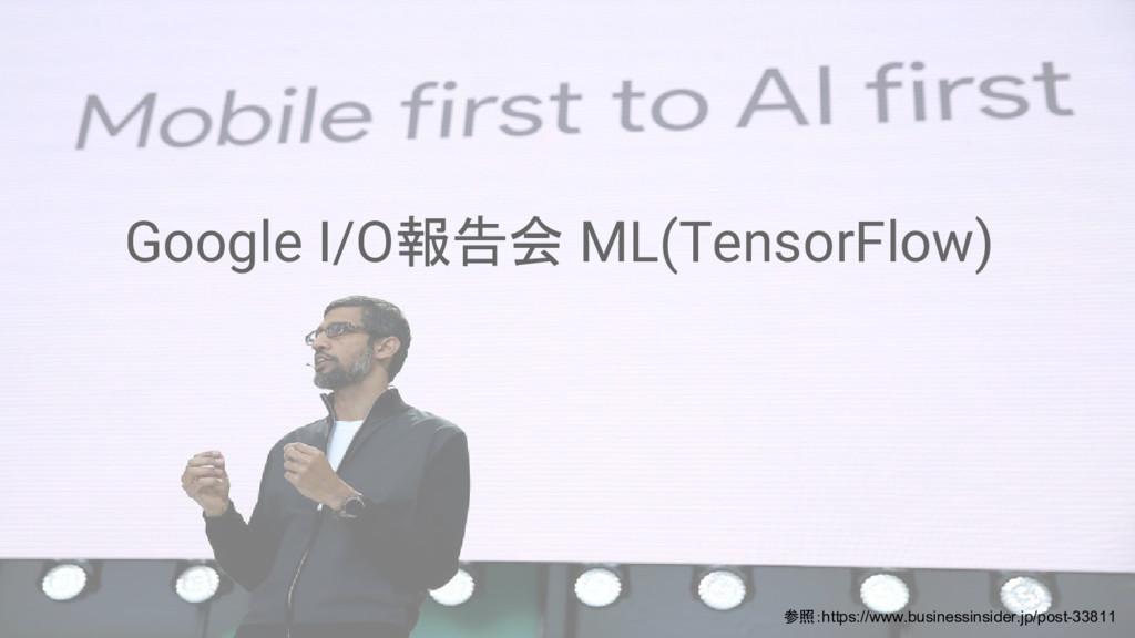 Google I/O報告会 ML(TensorFlow) 参照:https://www.bus...