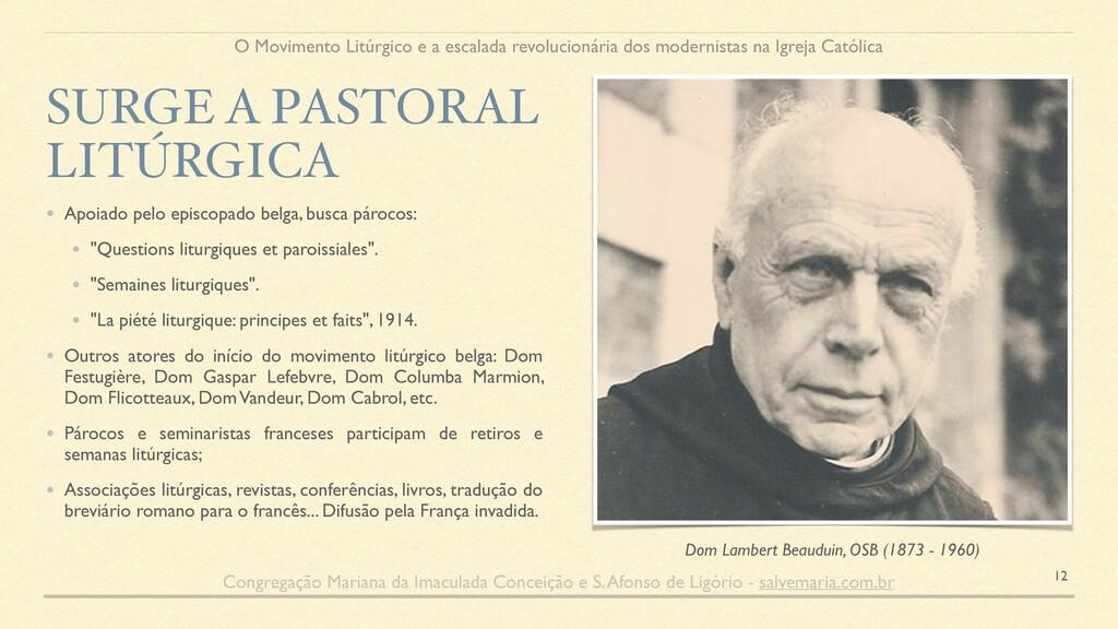 • Apoiado pelo episcopado belga, busca párocos:...