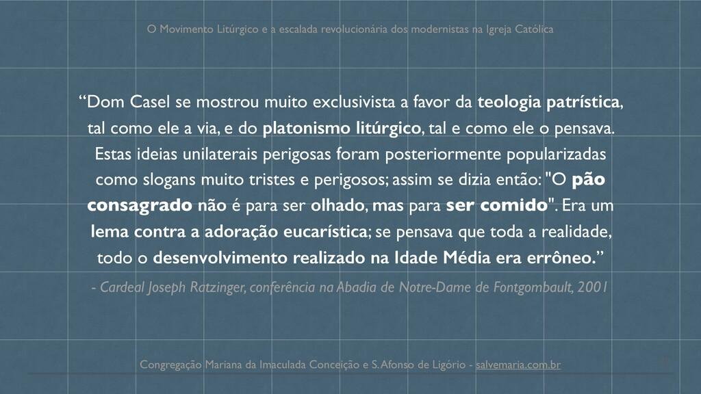 - Cardeal Joseph Ratzinger, conferência na Abad...