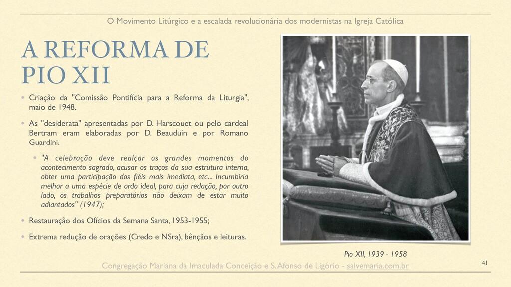 """• Criação da """"Comissão Pontifícia para a Reform..."""