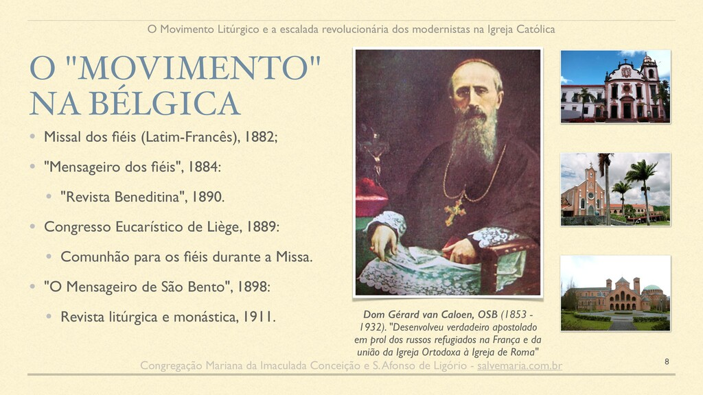 """Dom Gérard van Caloen, OSB (1853 - 1932). """"Dese..."""