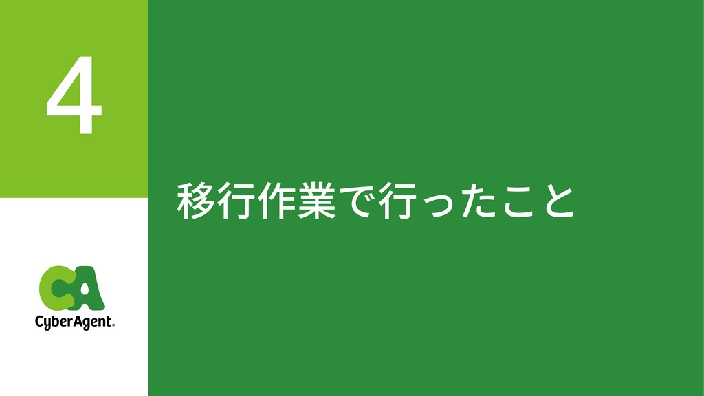 移⾏作業で⾏ったこと