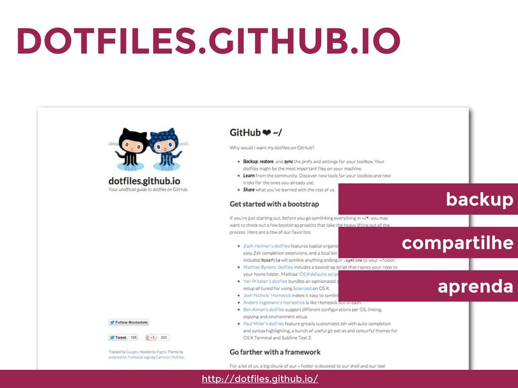 DOTFILES.GITHUB.IO http://dotfiles.github.io/ b...