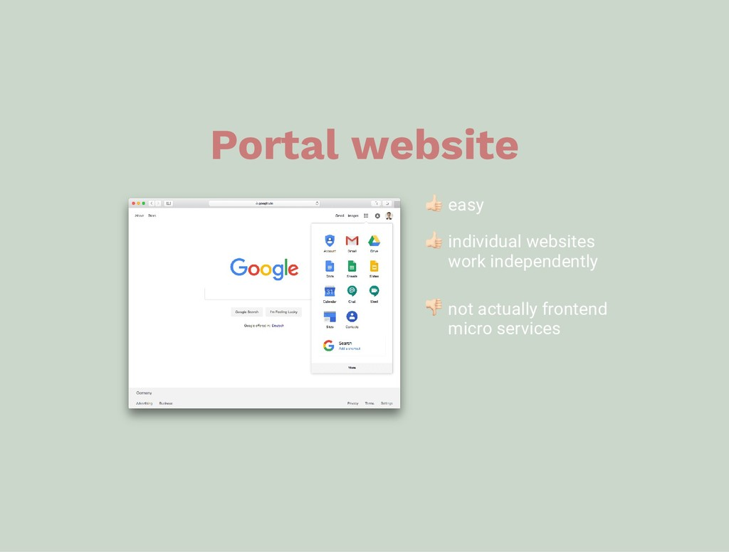 Portal website easy individual websites work in...