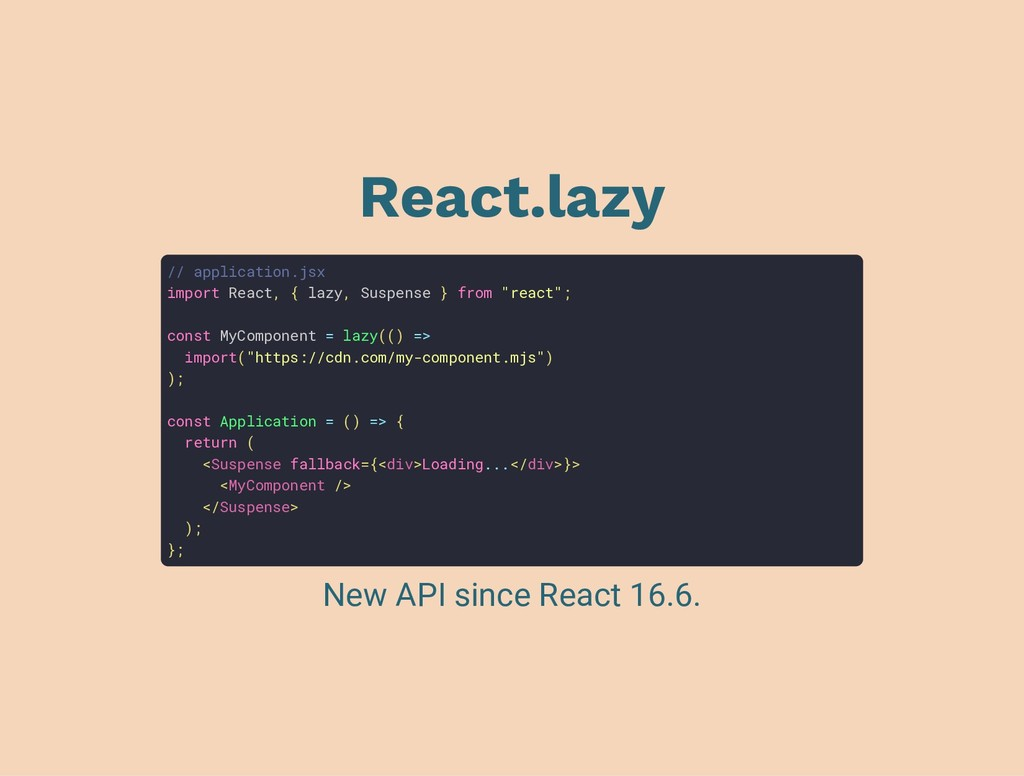 React.lazy // application.jsx import React, { l...