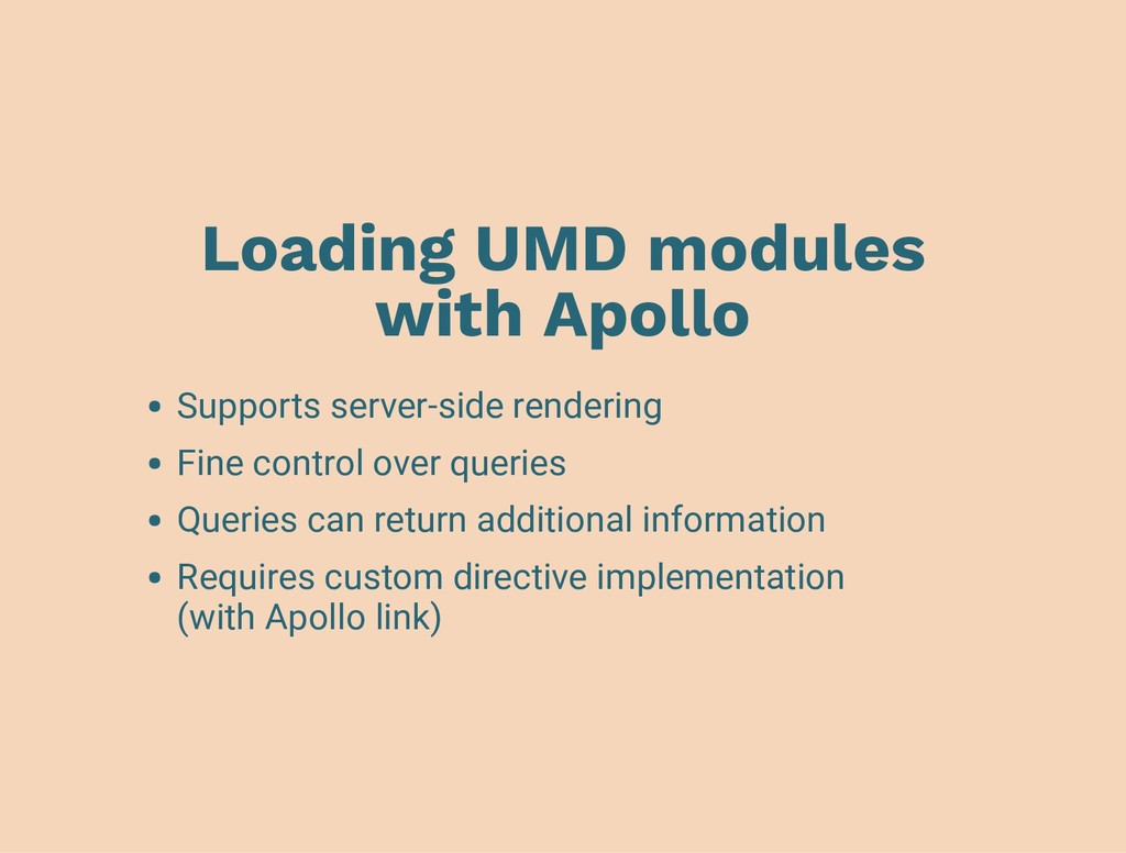 Loading UMD modules with Apollo Supports server...
