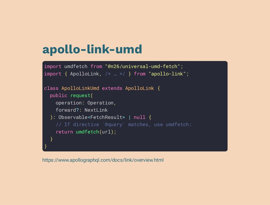 "apollo-link-umd import umdfetch from ""@n26/univ..."