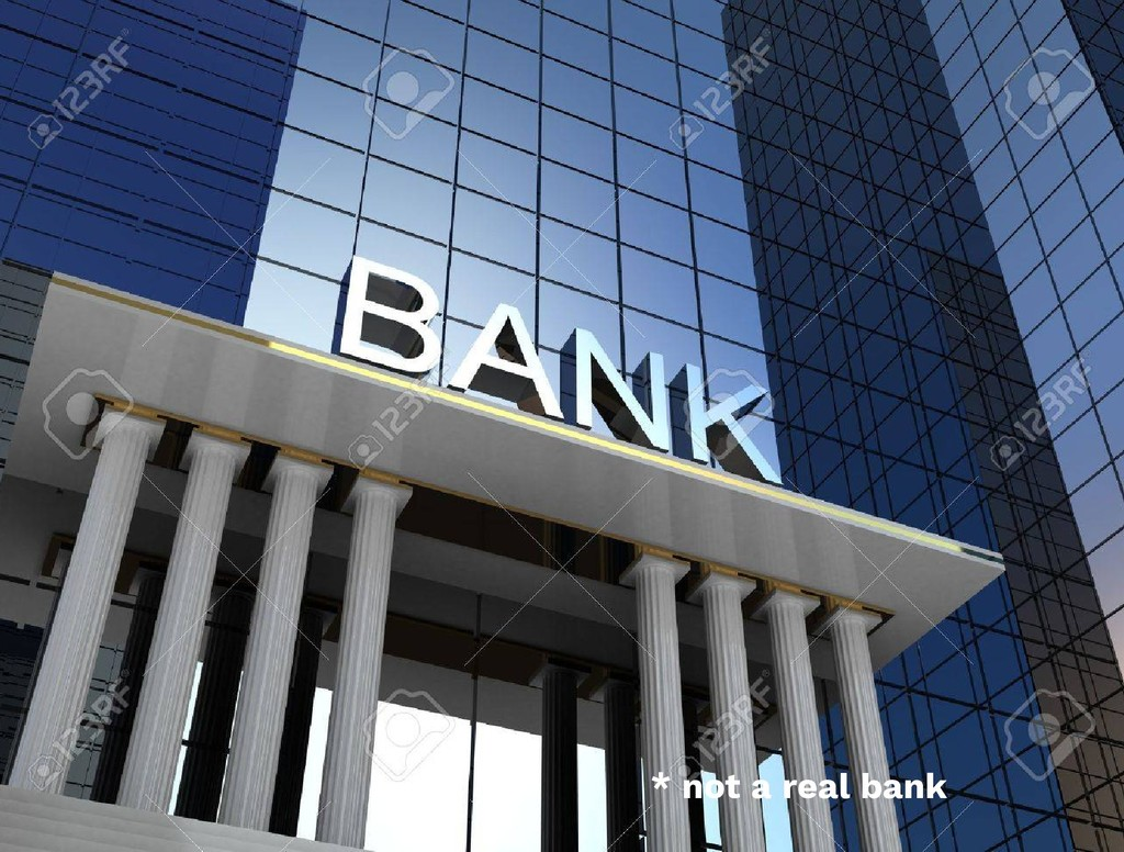 * not a real bank