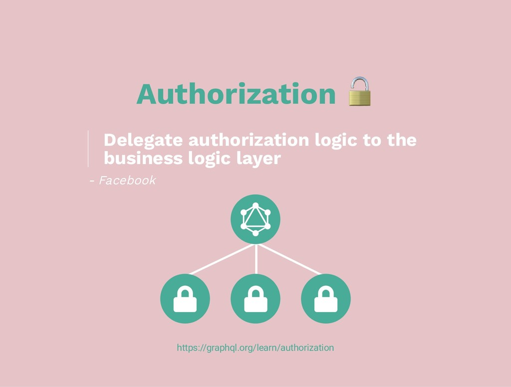 Authorization https://graphql.org/learn/authori...