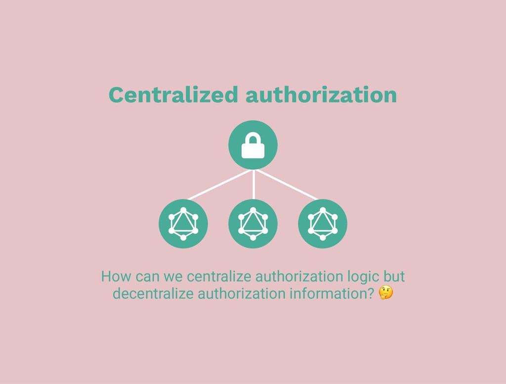 Centralized authorization How can we centralize...
