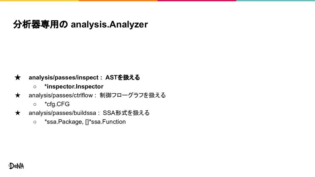 分析器専用の analysis.Analyzer ★ analysis/passes/insp...