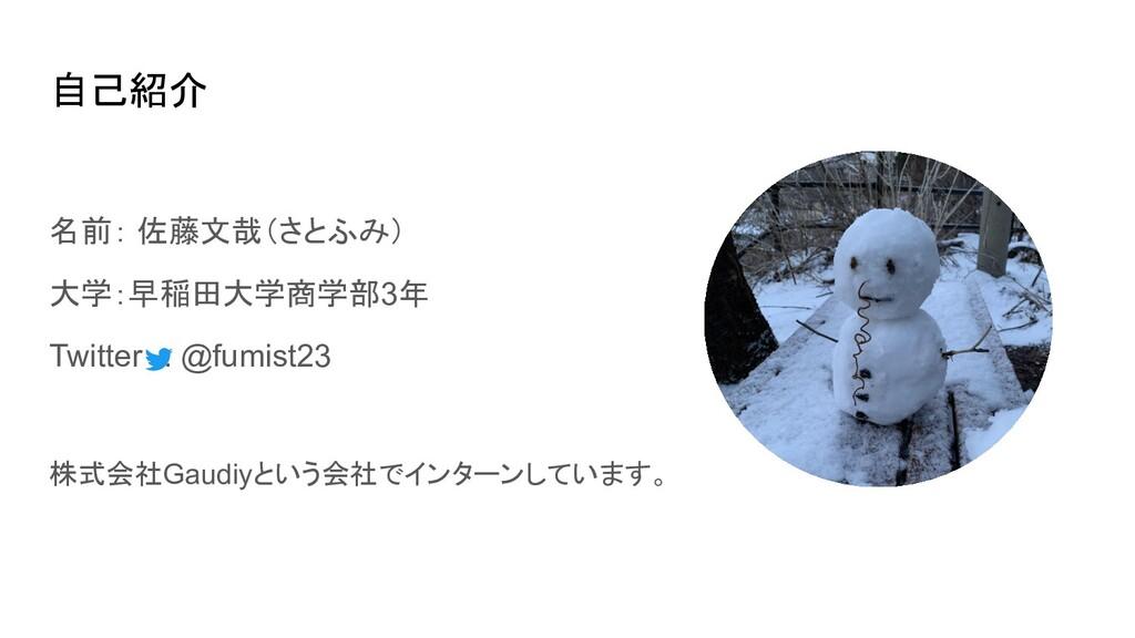 自己紹介 名前: 佐藤文哉(さとふみ) 大学:早稲田大学商学部3年 Twitter : @fu...