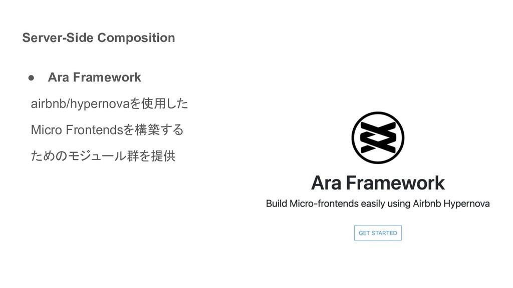Server-Side Composition ● Ara Framework  airbnb...
