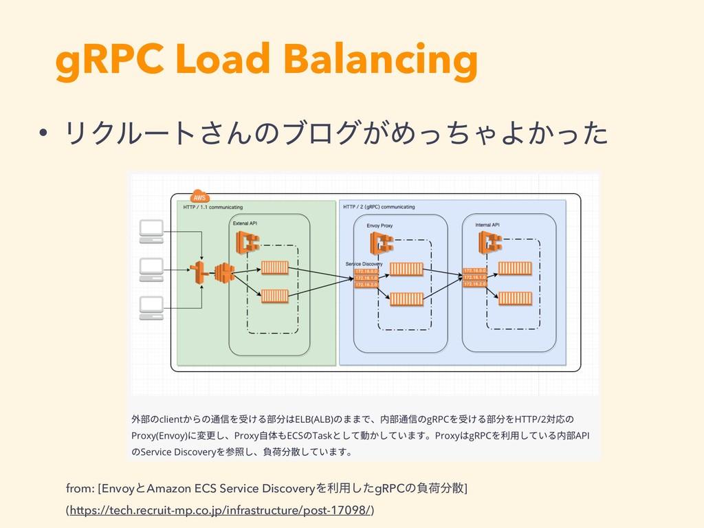 gRPC Load Balancing • ϦΫϧʔτ͞Μͷϒϩά͕ΊͬͪΌΑ͔ͬͨ from...