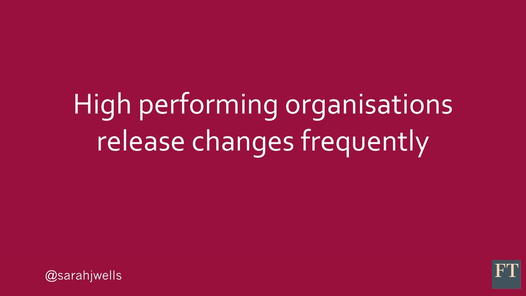@sarahjwells High performing organisations rele...
