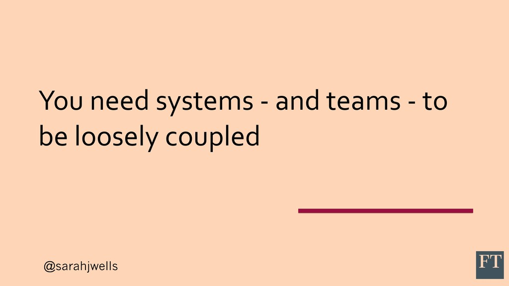 @sarahjwells You need systems - and teams - to ...