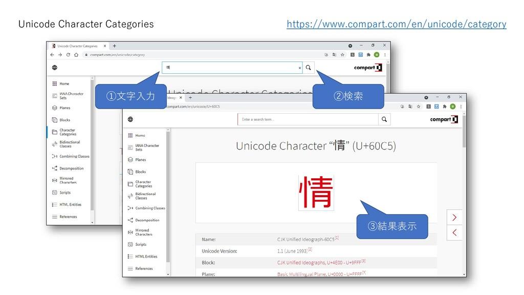 Unicode Character Categories https://www.compar...