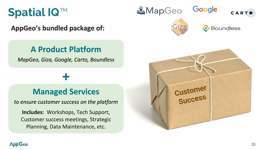 25 Spatial IQTM Customer Success