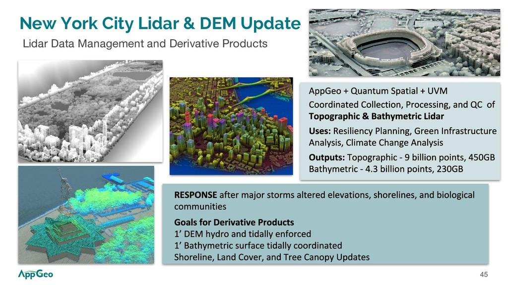 45 New York City Lidar & DEM Update Lidar Data ...