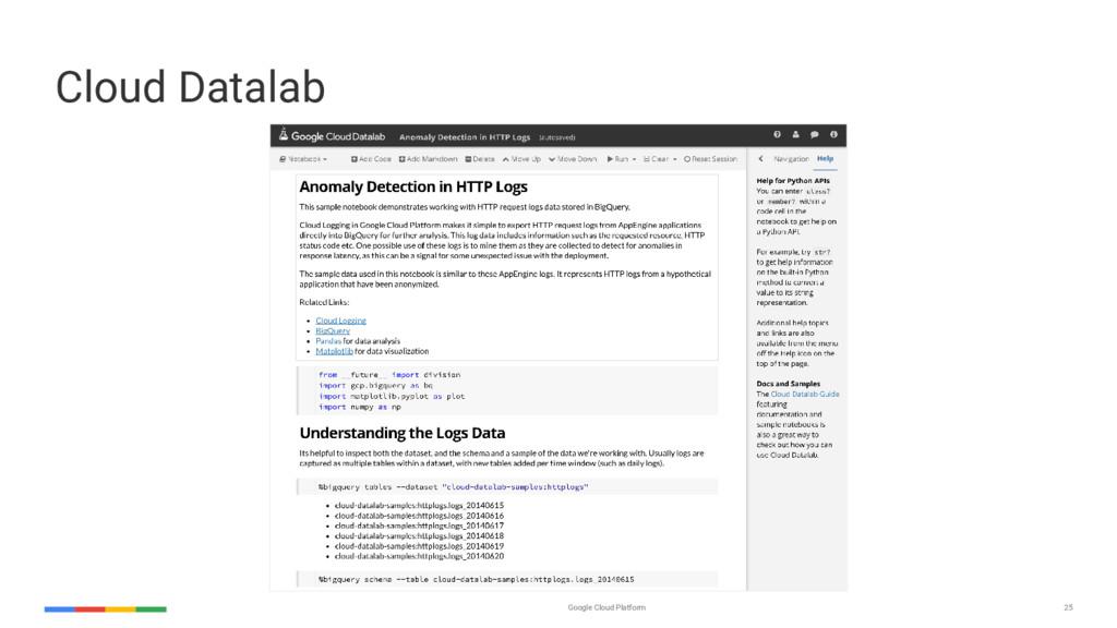 25 Google Cloud Platform Cloud Datalab
