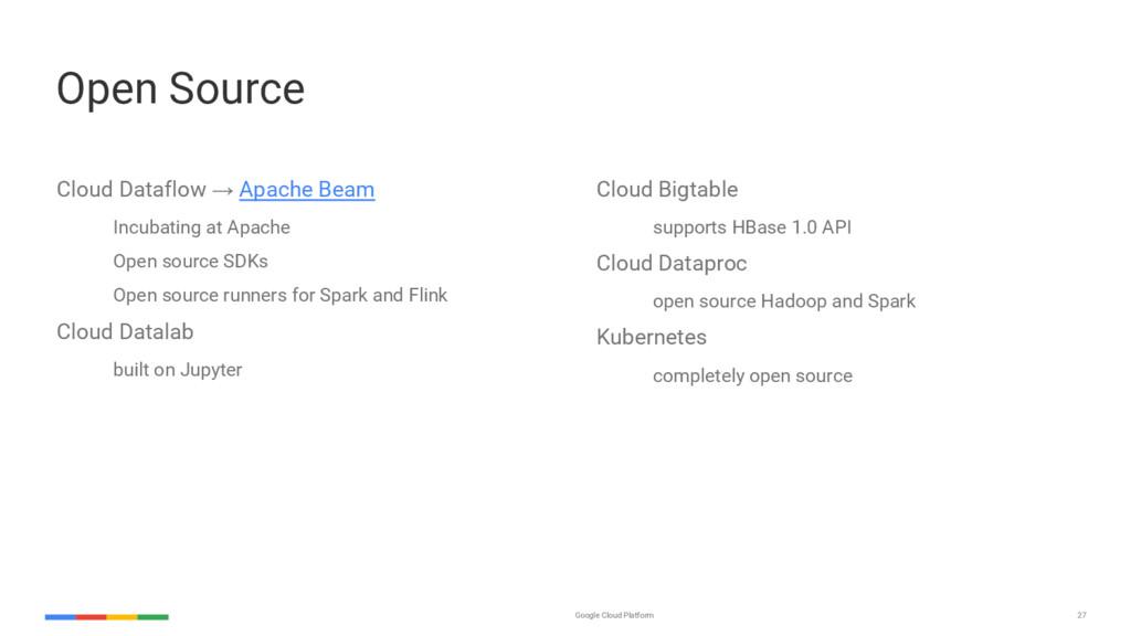 27 Google Cloud Platform Open Source Cloud Data...
