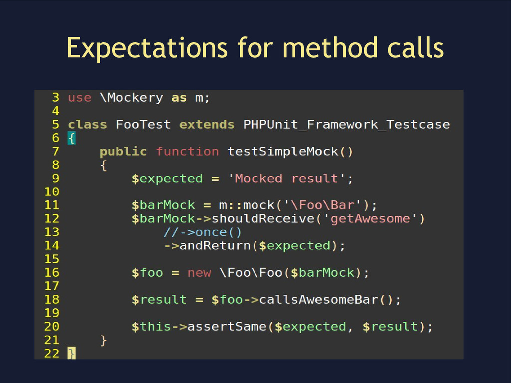 Expectations for method calls