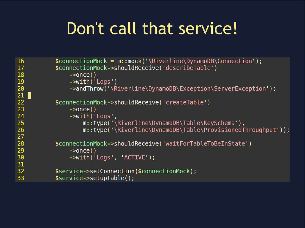 Don't call that service!