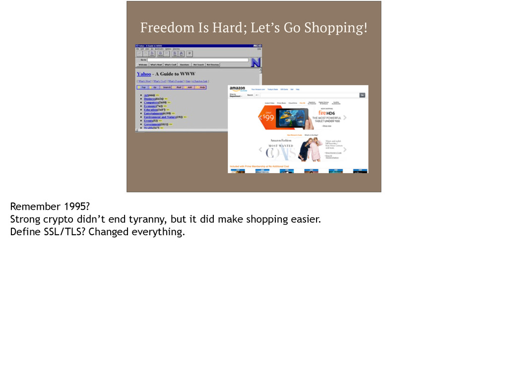 Freedom Is Hard; Let's Go Shopping! Remember 19...