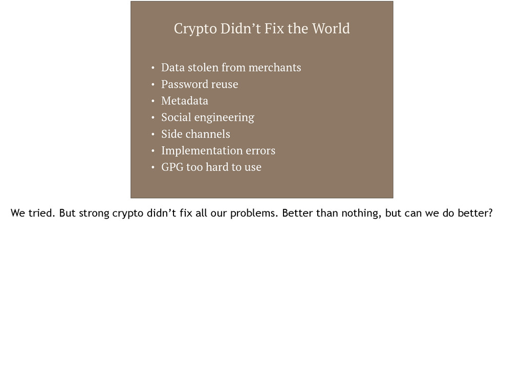 Crypto Didn't Fix the World • Data stolen from ...