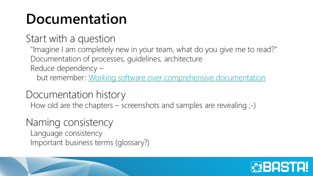 """Documentation Start with a question """"Imagine I ..."""