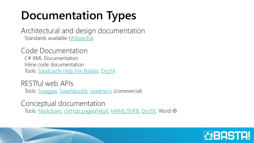 Documentation Types Architectural and design do...