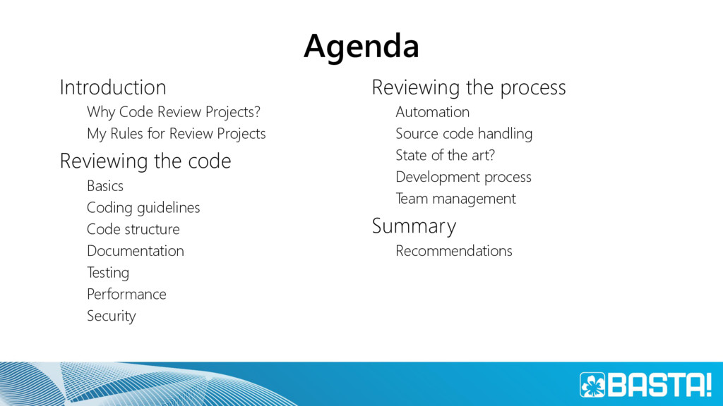 Agenda Introduction Why Code Review Projects? M...