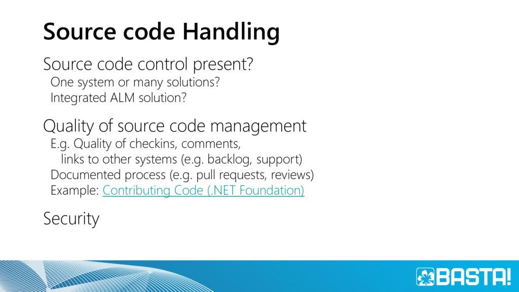 Source code Handling Source code control presen...
