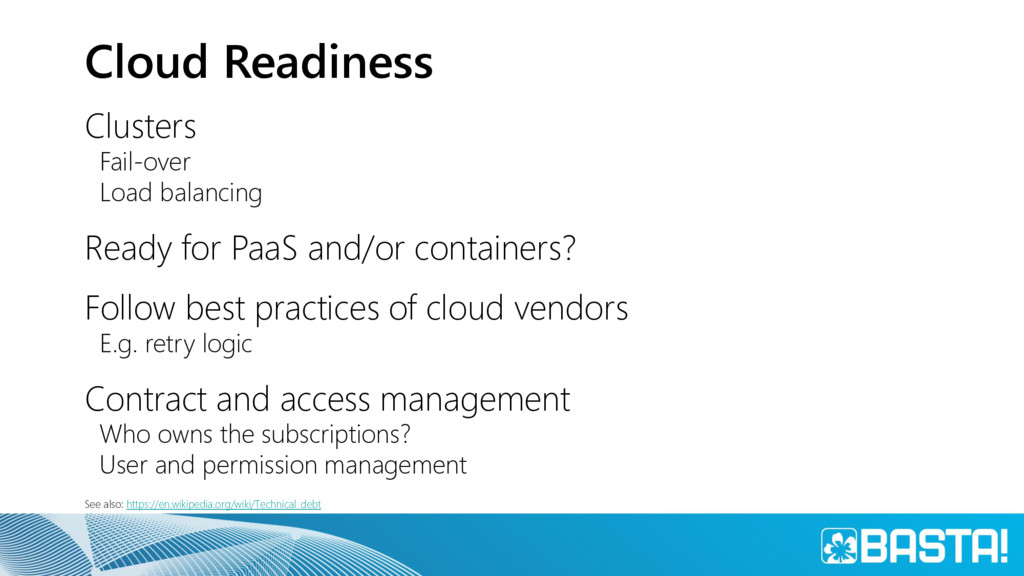 Cloud Readiness Clusters Fail-over Load balanci...