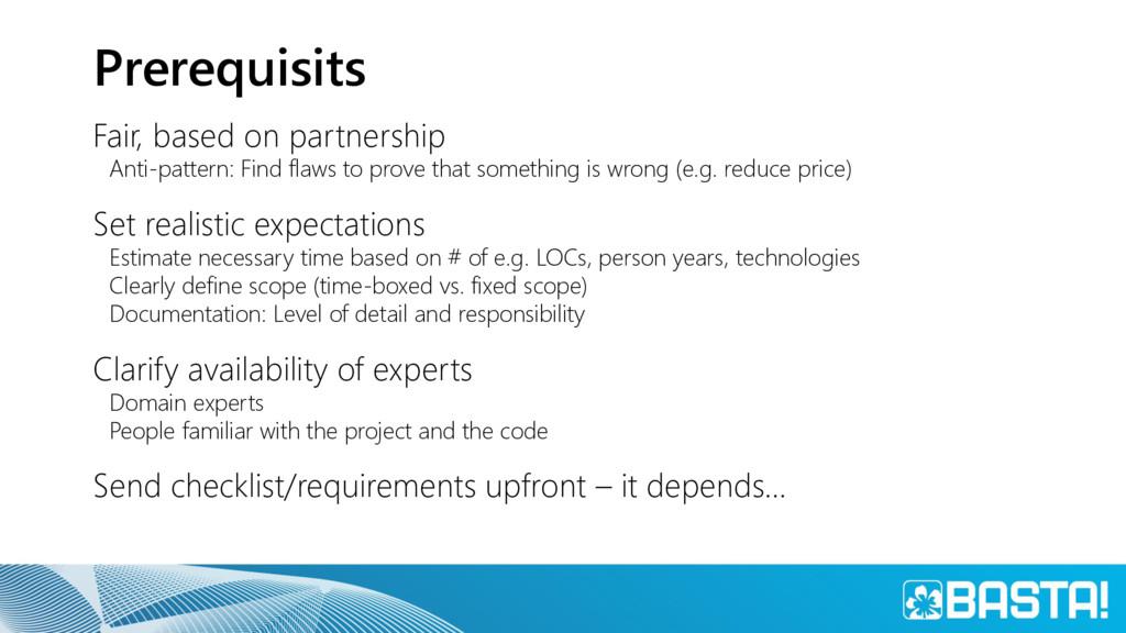 Prerequisits Fair, based on partnership Anti-pa...