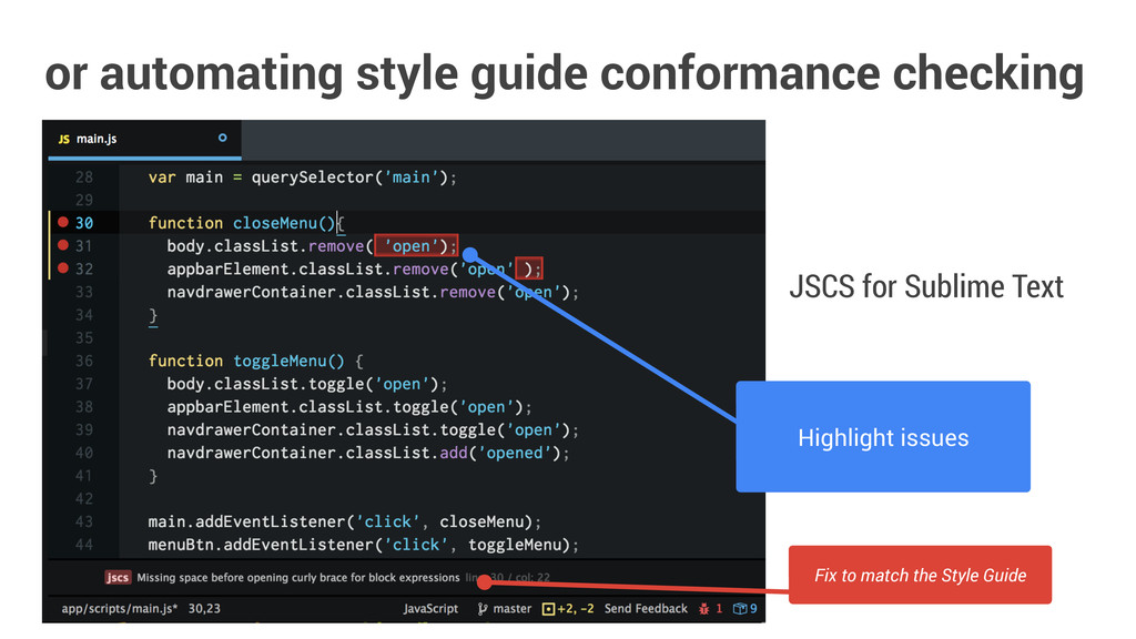 or automating style guide conformance checking ...