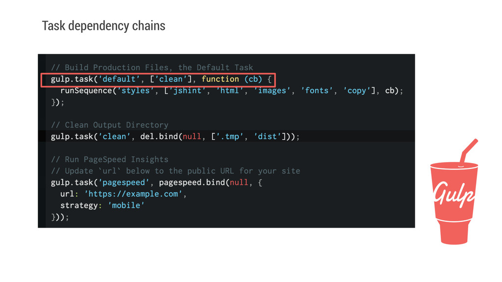 Task dependency chains