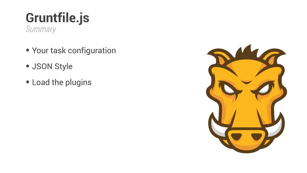 Gruntfile.js • Your task configuration • JSON S...