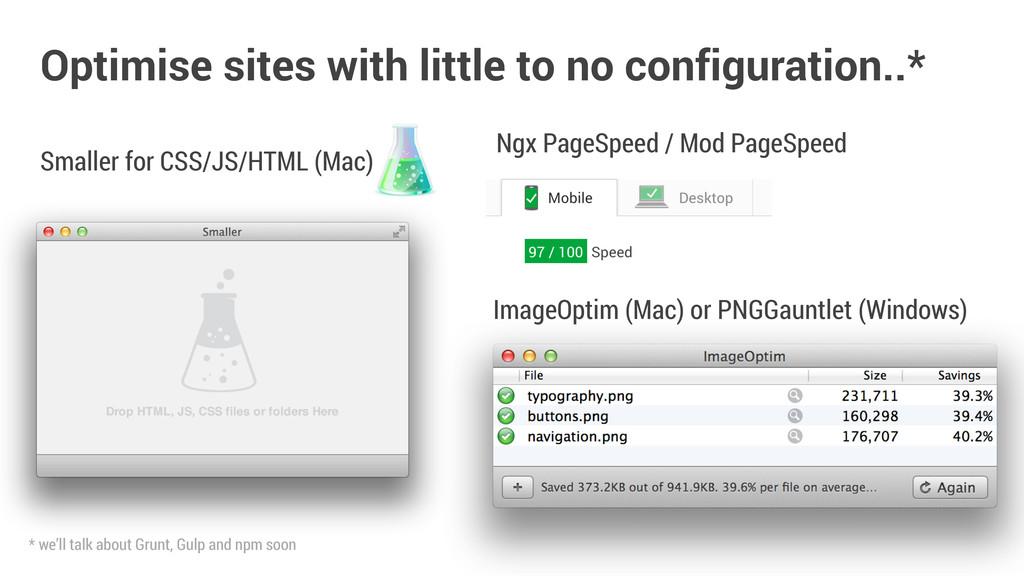 ImageOptim (Mac) or PNGGauntlet (Windows) Optim...
